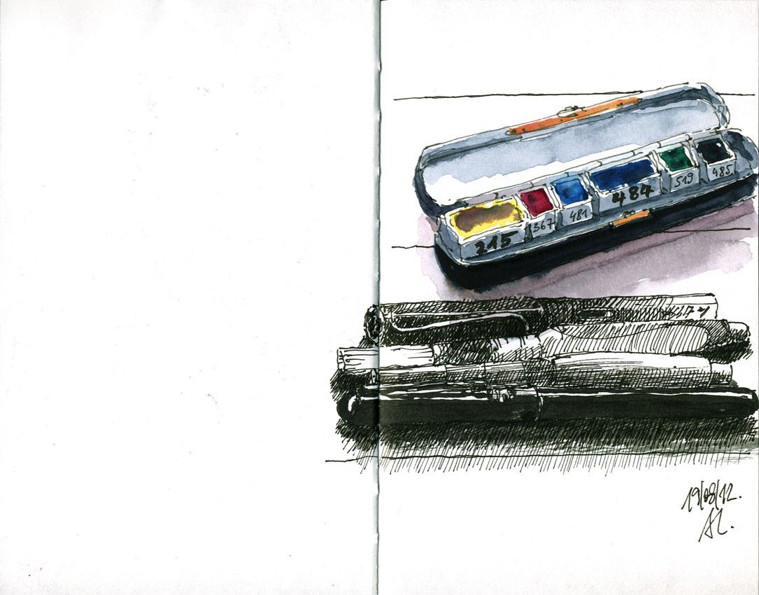 12-08-19_Meine Stifte und Farben